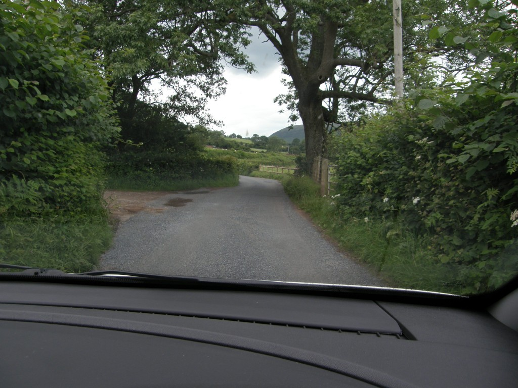 Single Lane Track with Passing Areas, Black Mountains, Wales
