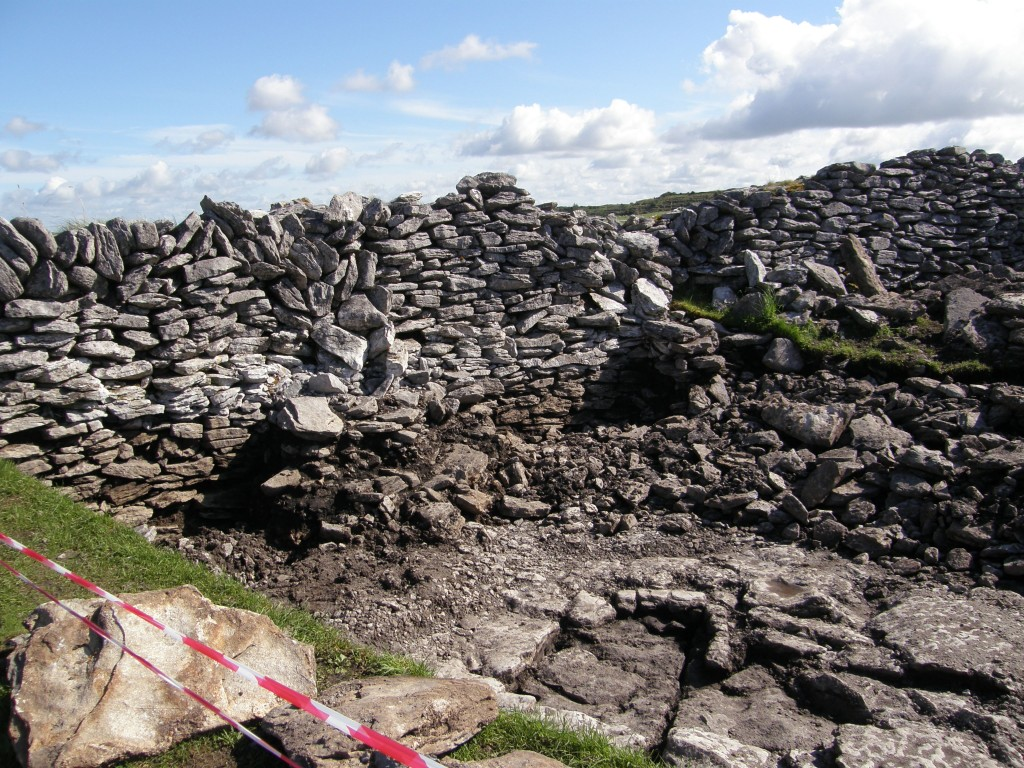 Archeological Dig Currently Underway inside Caherconnell Ring Fort