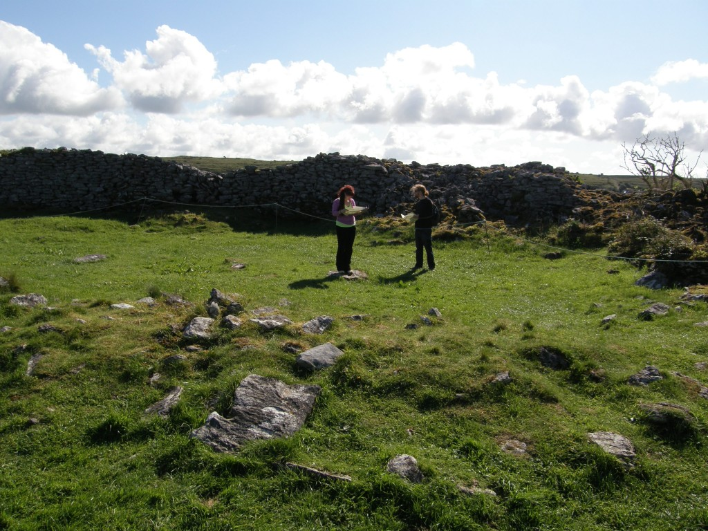 Caitlin and Jeff Studying the Caherconnell Ring Fort Interior