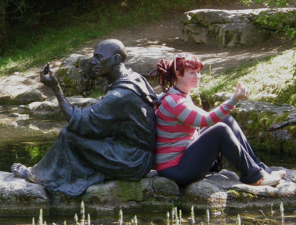 St. Fiachra and Caitlin Funston in Contemplation
