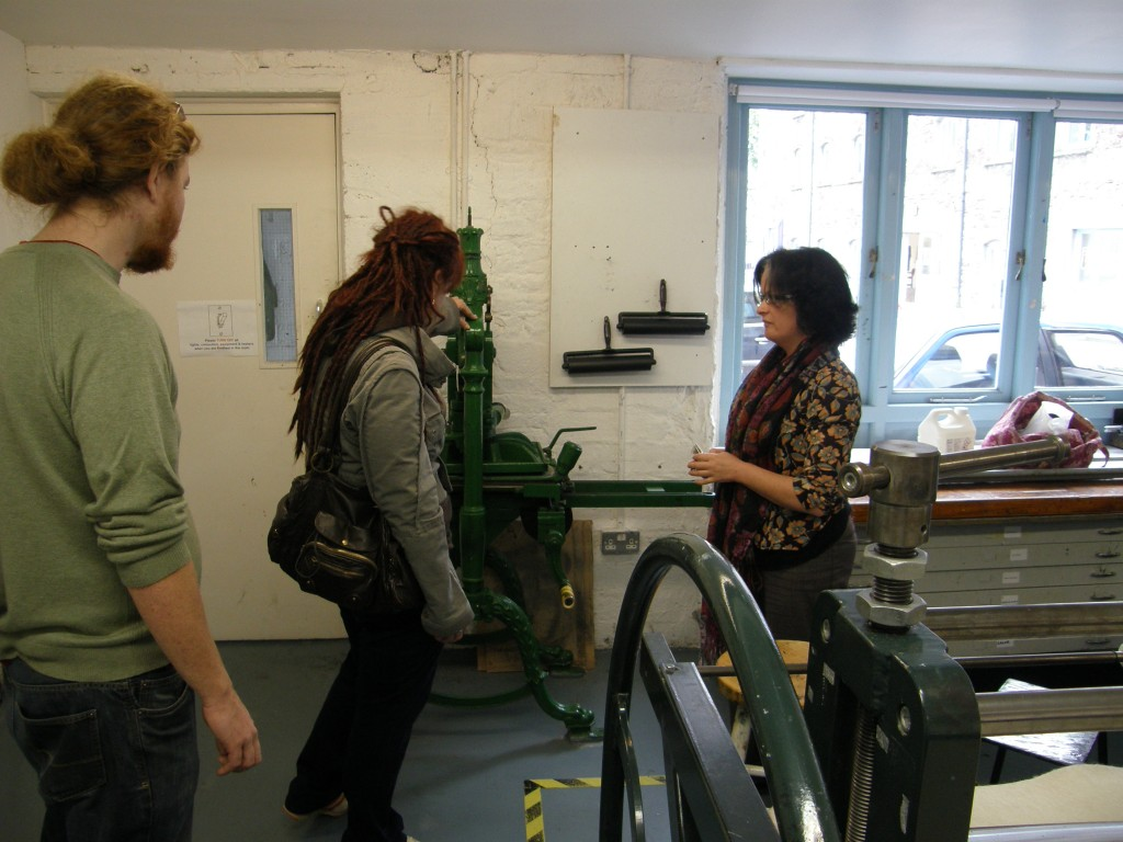 Caitlin and Jeff at Cork Print Makers Coop