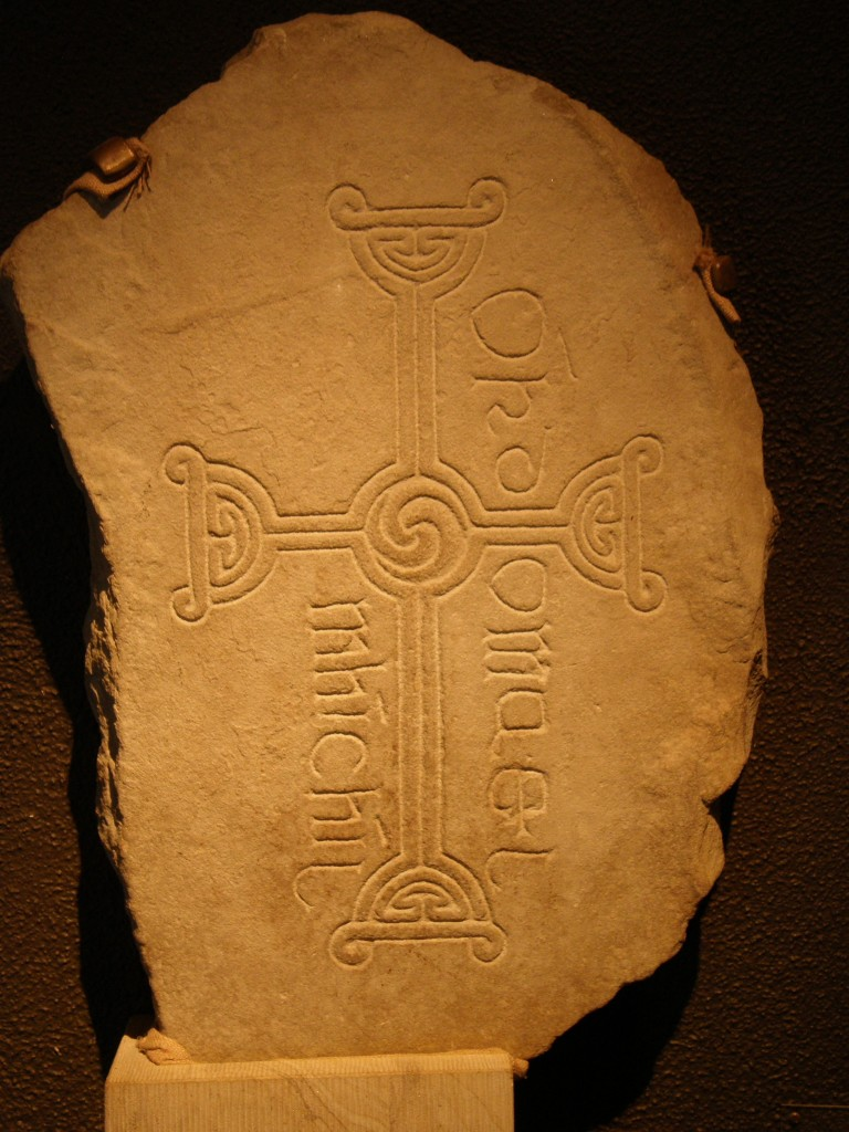 Inscribed Stone with Center Triskele from Clonmacnoise, Co. Offaly, Éire