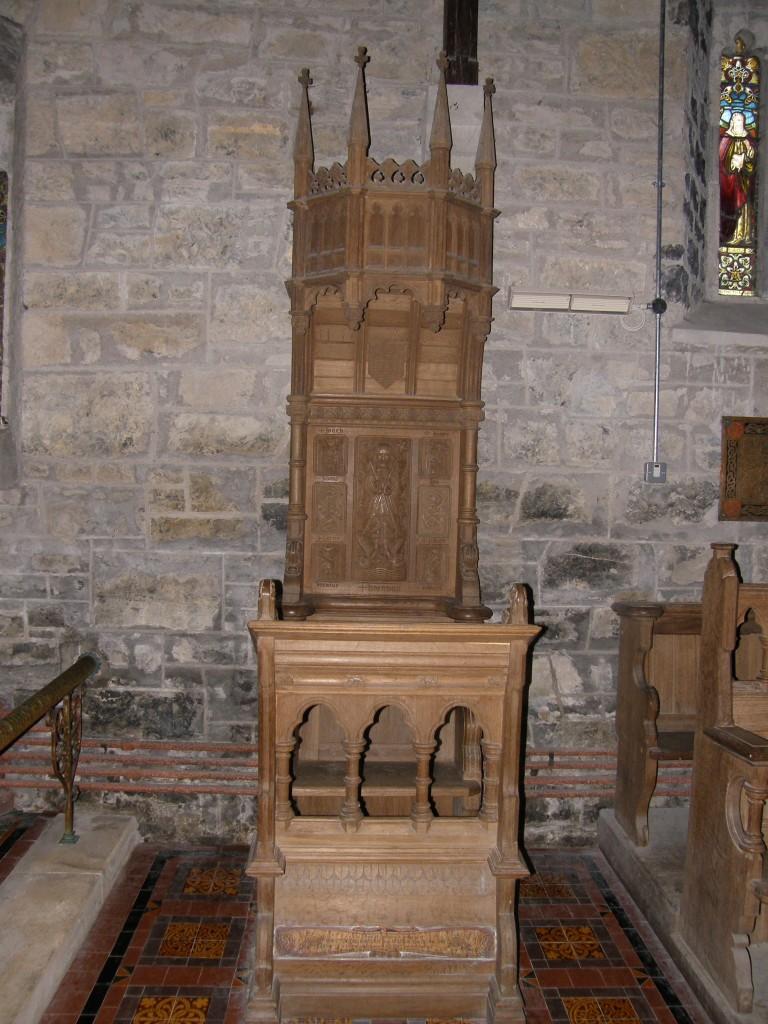 Cathedra at St. Brendan's Cathedral, Clonfert, Co. Galway, Ireland