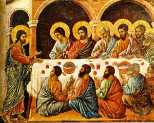 Jesus Appears to the Disciples Behind Closed Doors, Duccio di Buoninsegna