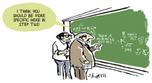 And then a miracle occurs cartoon