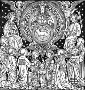 Etching of the Heavenly Throne Room