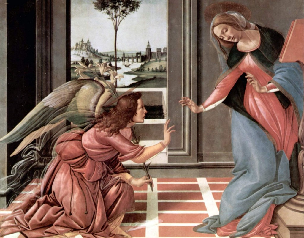 Annunciation of the Blessed Virgin Mary by Sandro Botticelli