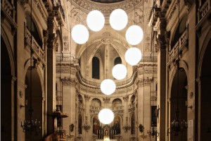 Church Interior with Superimposed Question Mark