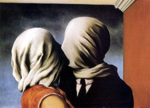 The Lovers by Rene Magritte