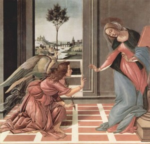 The Annunciation by Sandro Botticelli