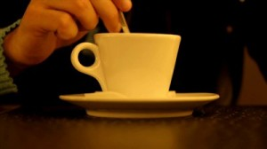 Hand Stirring a Cup