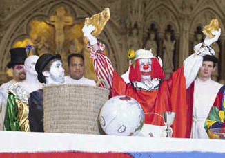 Clown Presiding at Communion