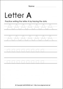 Traceable A X on traceable letter worksheets