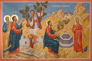 Russian Icon: Woman at the Well and Zacchaeus