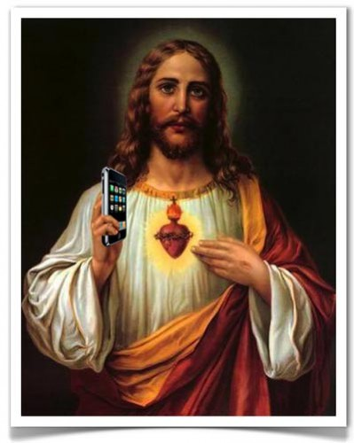 Jesus with Cellphone