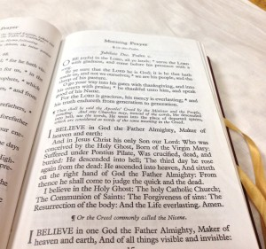 Apostle's Creed in Prayer Book