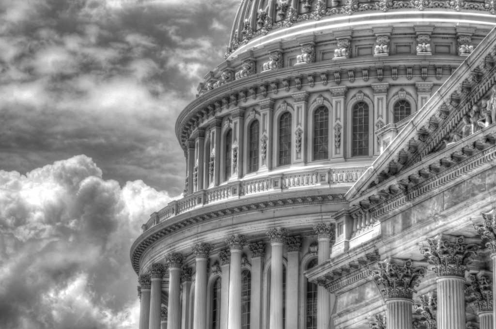 US Capitol Dome with Clouds