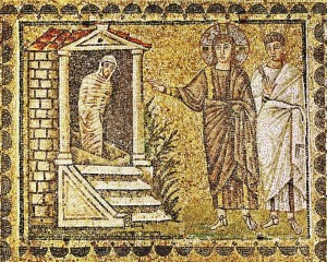 The Raising of Lazarus, Basilica di Sant'Apollinare Nuovo, Ravenna, Italy, 6th century